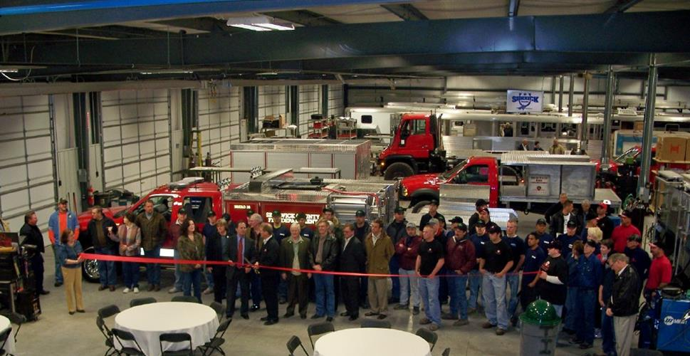 Unruh Fab Inc 2007 ribbon cutting of their facility. Today they have 30 employees.